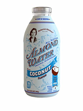 victorias kitchen almond water coconut rtd 12x16oz - Victorias Kitchen Almond Water