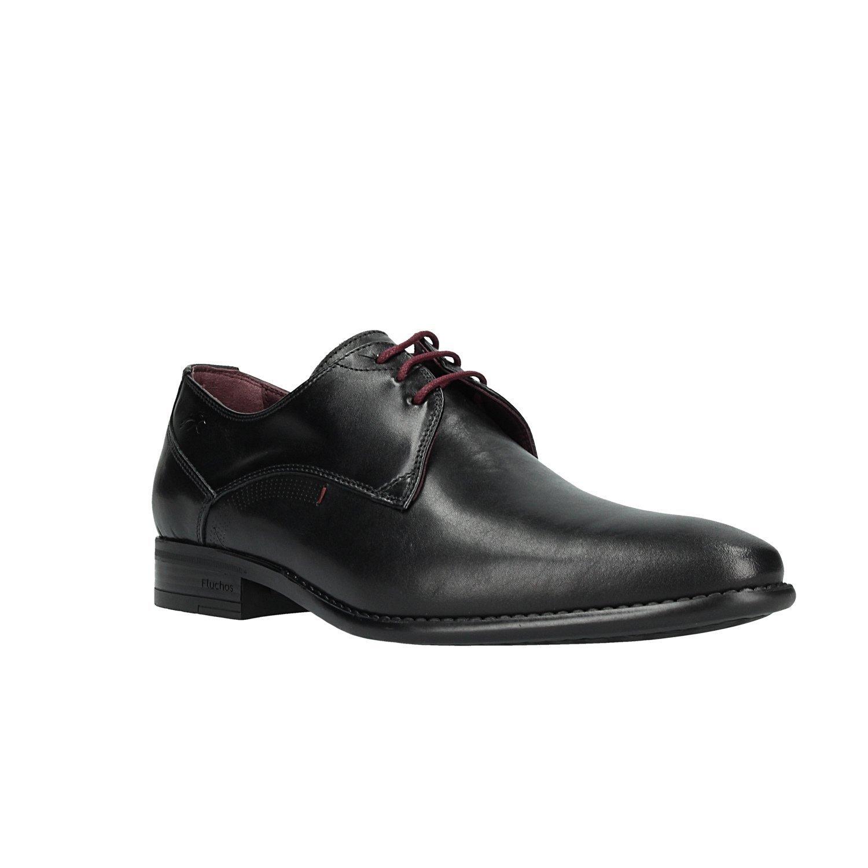TALLA 46 EU. Zapato FLUCHOS 9204 Memory Negro Burdeos