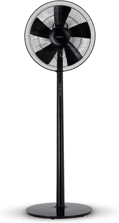 IKOHS Comfort V - Ventilador de Pie Ultrasilencioso (Negro)