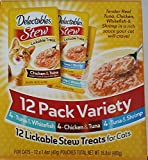 Delectables 2-12 Pack Variety Lickable Stew Treats For Cats,Tuna & Whitefish, Chicken & Tuna, Tuna & Shrimp Review