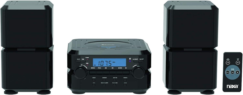 Naxa Electronics NS-441 Wireless Bluetooth Digital Cd Microsystem with LCD Display, Black