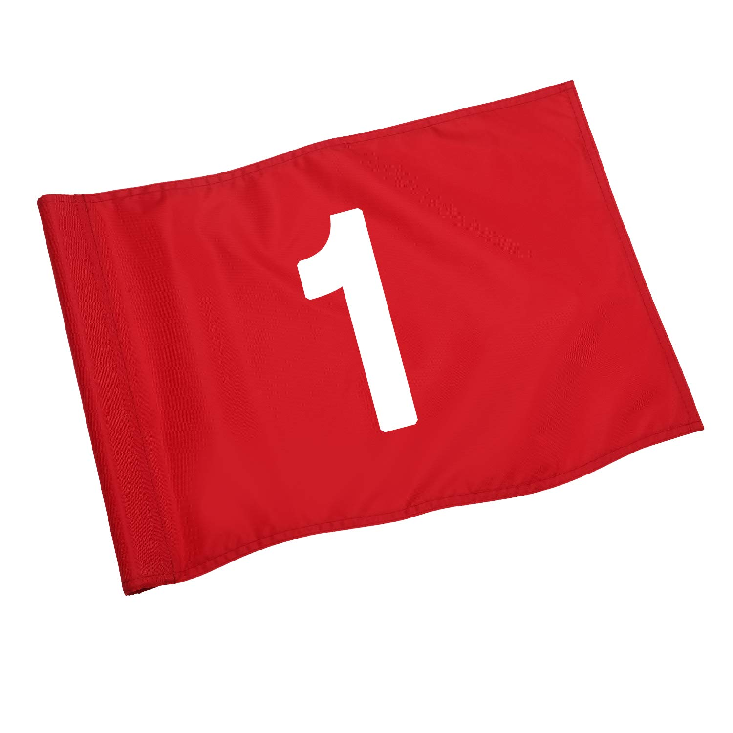 KINGTOP Solid Golf Flag with Plastic Insert, Putting Green Flags for Yard, Indoor/Outdoor, Garden Pin Flags, 420D Premium Nylon Flag, 13'' L x 20'' H, Red by KINGTOP