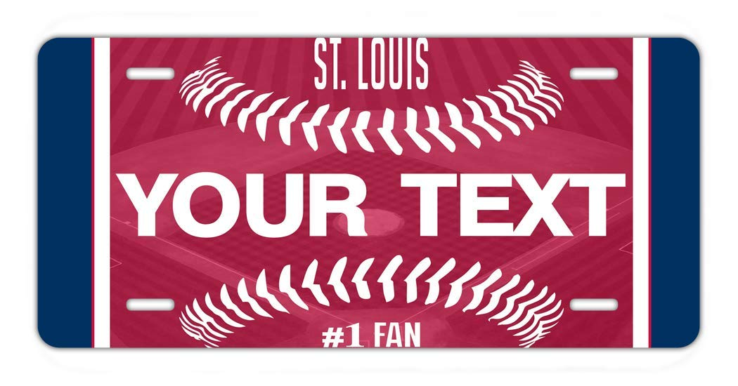 Louis Car Vehicle 6x12 License Plate Auto Tag BRGiftShop Personalize Your Own Baseball Team St
