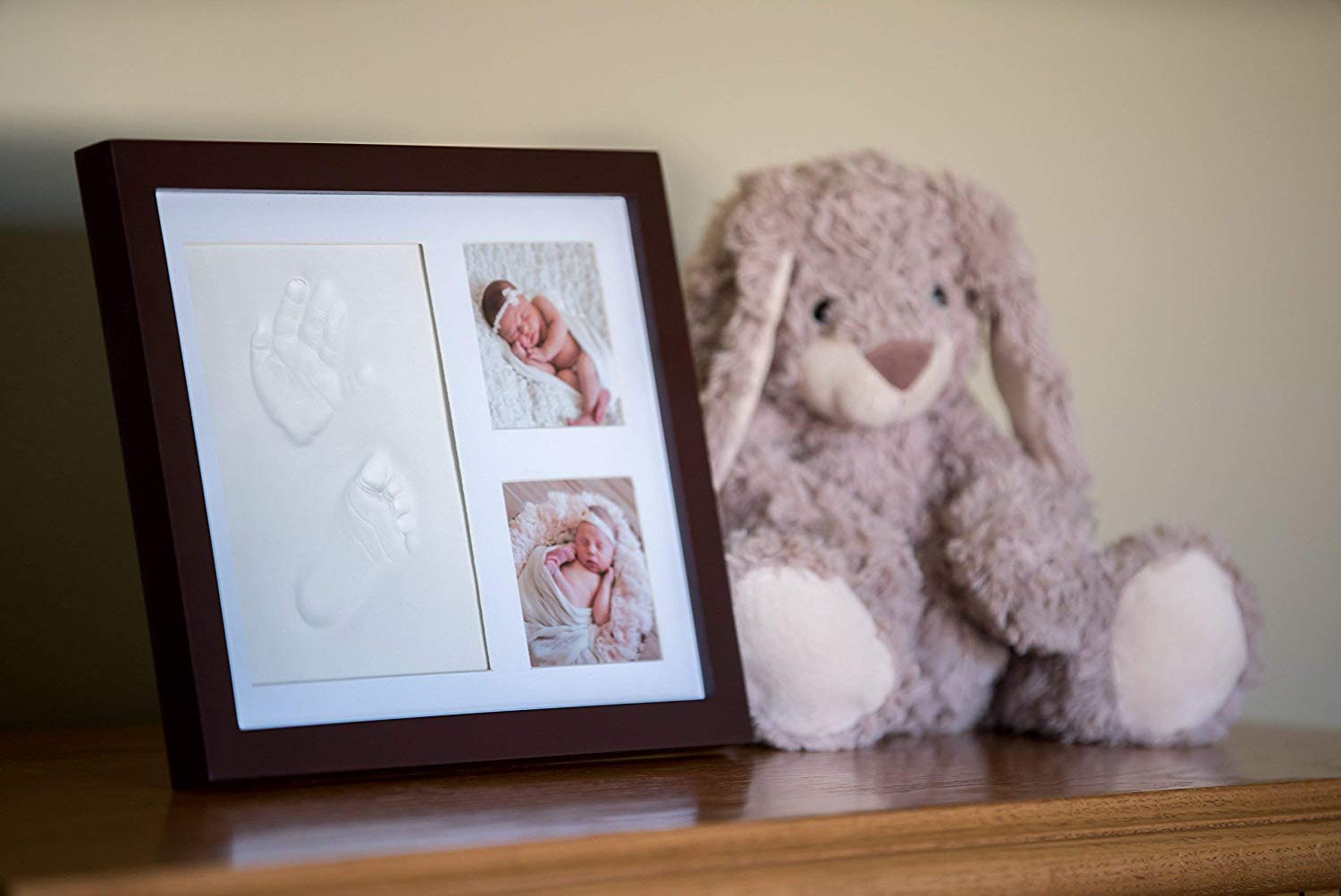 Baby Handprint Kit |NO Mold| Baby Picture Frame Newborn Baby Keepsake Frames Perfect for Baby Boy Gifts,Top Baby Girl Gifts Baby Shower Gifts Baby Footprint kit