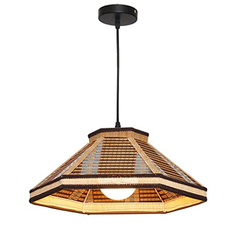 Lampshade Bamboo Lantern Chandelier Ceiling Light Creative ...