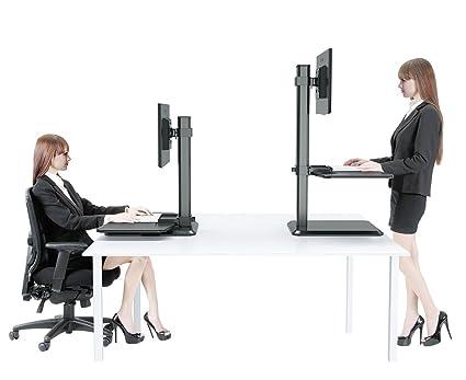 Dual Monitor de estación de trabajo de escritorio de pie, pie o ...
