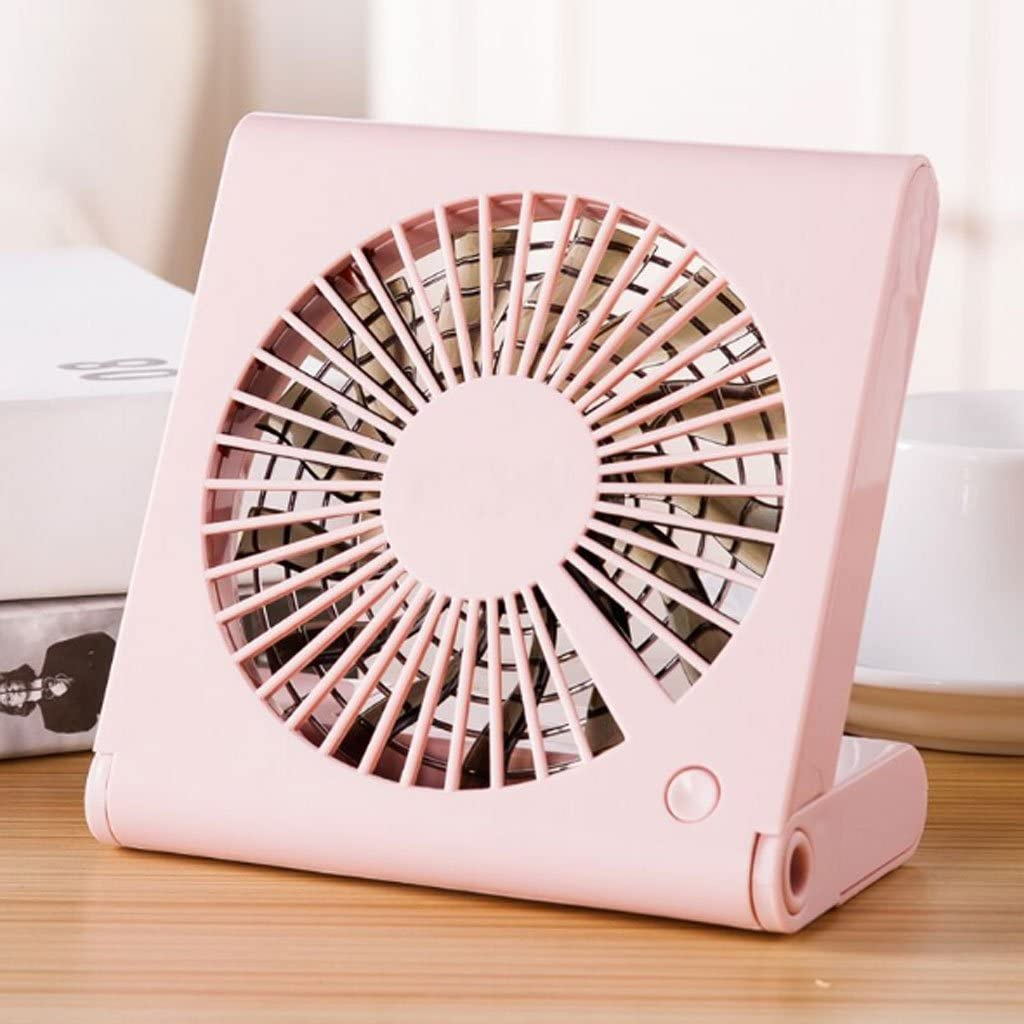 Notebook Folding Fan Mini Portable Silent Fan ZWS Portable Fan Fashion USB Charging Fan Color : A Student Dormitory Bed Outdoor Travel Family Mini Fan Heat Dissipation