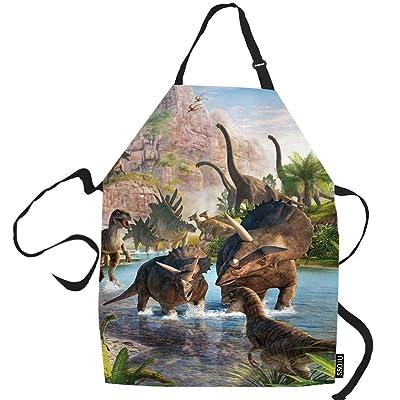 Buy Ssoiu Dinosaur Cooking Apron Ancient Dinosaur Kitchen Apron For Baking Bbq Men Women Unisex Waterproof 31x27 Inches Online In Poland B085thjzyl