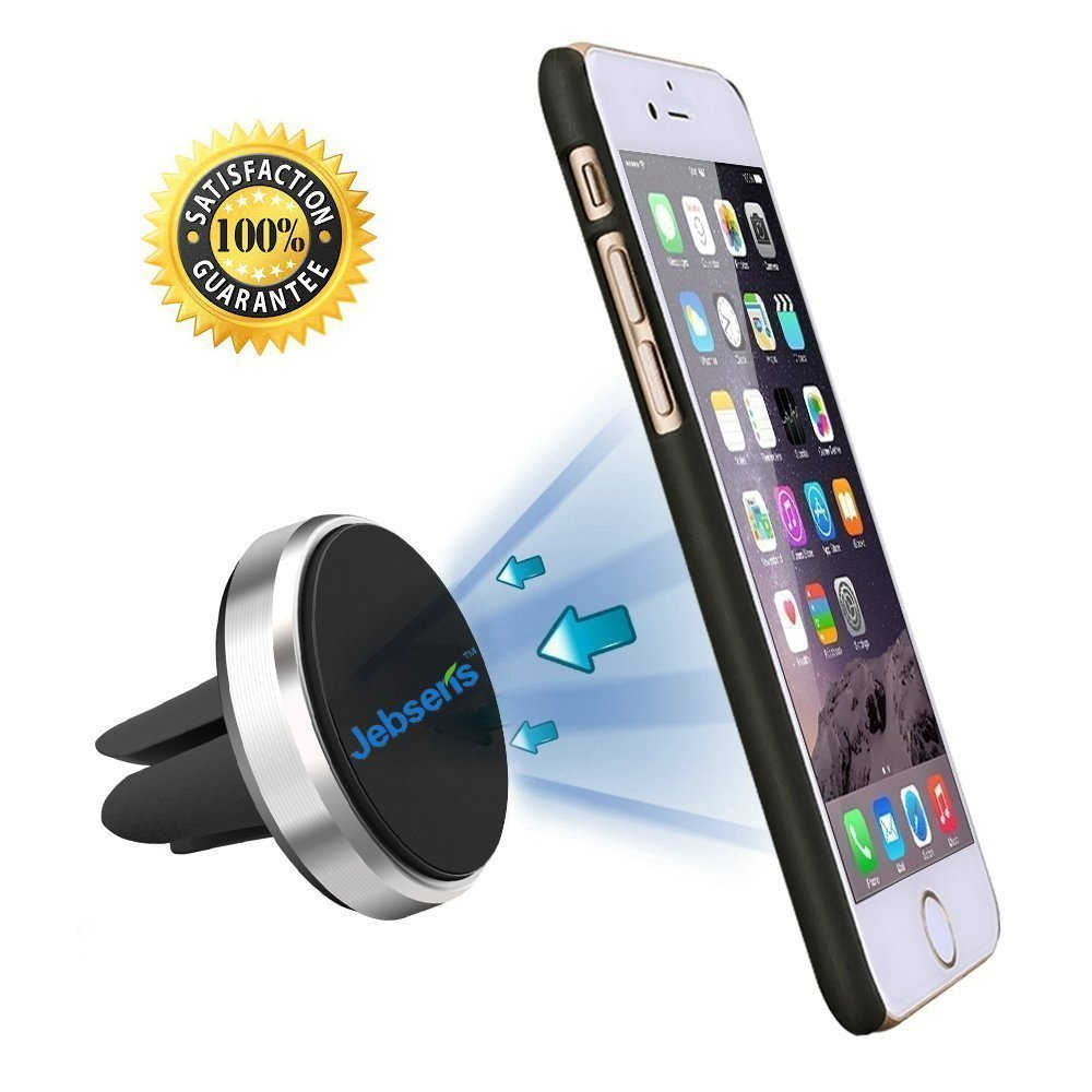Universal Air Vent Magnetic Car Mount Holder – JEBSENS CA03 Cell Phone Holder for Car, Strong Magnetic Car Holder for Air Vent for iPhone 7 7plus 6s 6 plus 5s 5c 5 se, S7 6 7 edge LG G5 G4 V10 HTC P9 P8 Asus HTC Nexus and Tablets and GPS devices