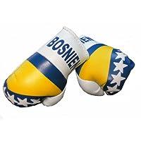 Mini Boxhandschuhe BOSNIEN, 1 Paar (2 Stück) Miniboxhandschuhe z. B. für Auto-Innenspiegel