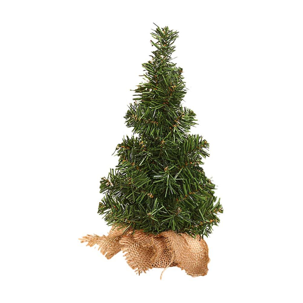 Kentop Mini albero di Natale artificiale, per la casa, il soggiorno, decorazione natalizia 20cm 20cm
