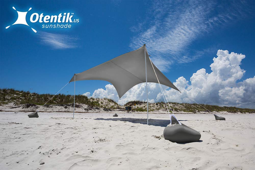 Otentik Beach Sunshade - with Sandbag Anchors - The Original Sunshade Since 2011 by Otentik