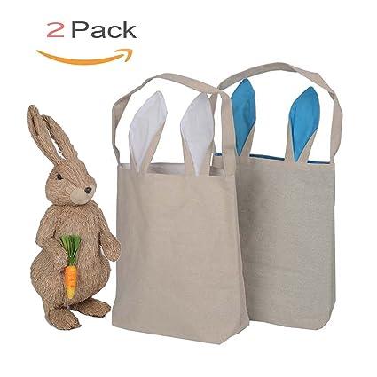 amazon com easter bunny bag cotton cloth bag gift bag bunny ears