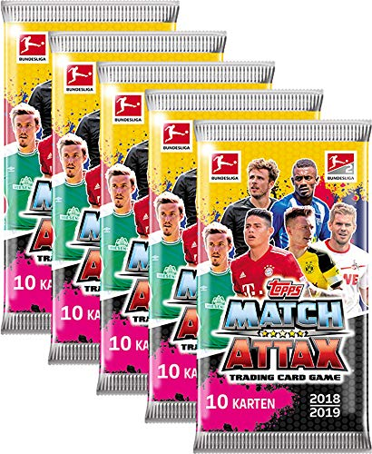 Topps Match Attax Bundesliga 2018 19 5 Booster A 10 Karten 50 Stuck