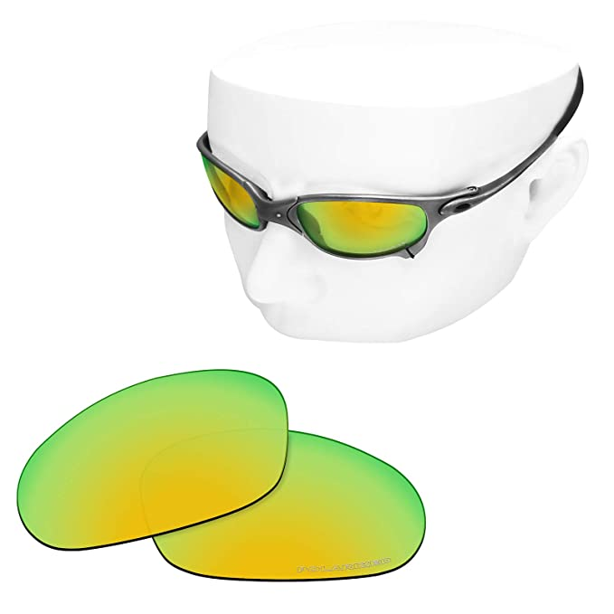 07fd83709dc OOWLIT Replacement Sunglass Lenses for Oakley Juliet 24K Mirror Polarized