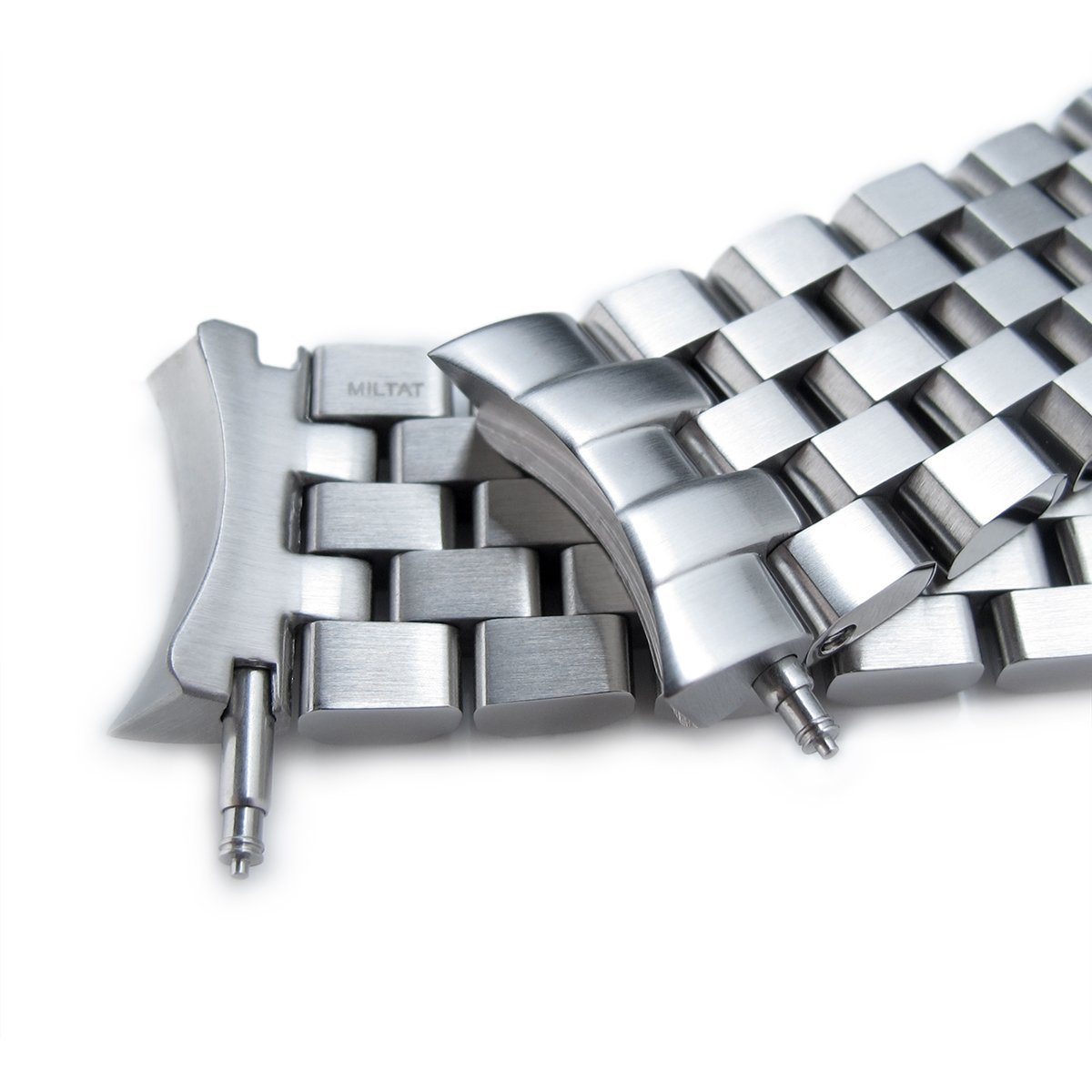 Super Engineer II Watch Bracelet for SEIKO SKX007 SKX009, Brushed, Button Chamfer by Seiko Replacement by MiLTAT (Image #3)