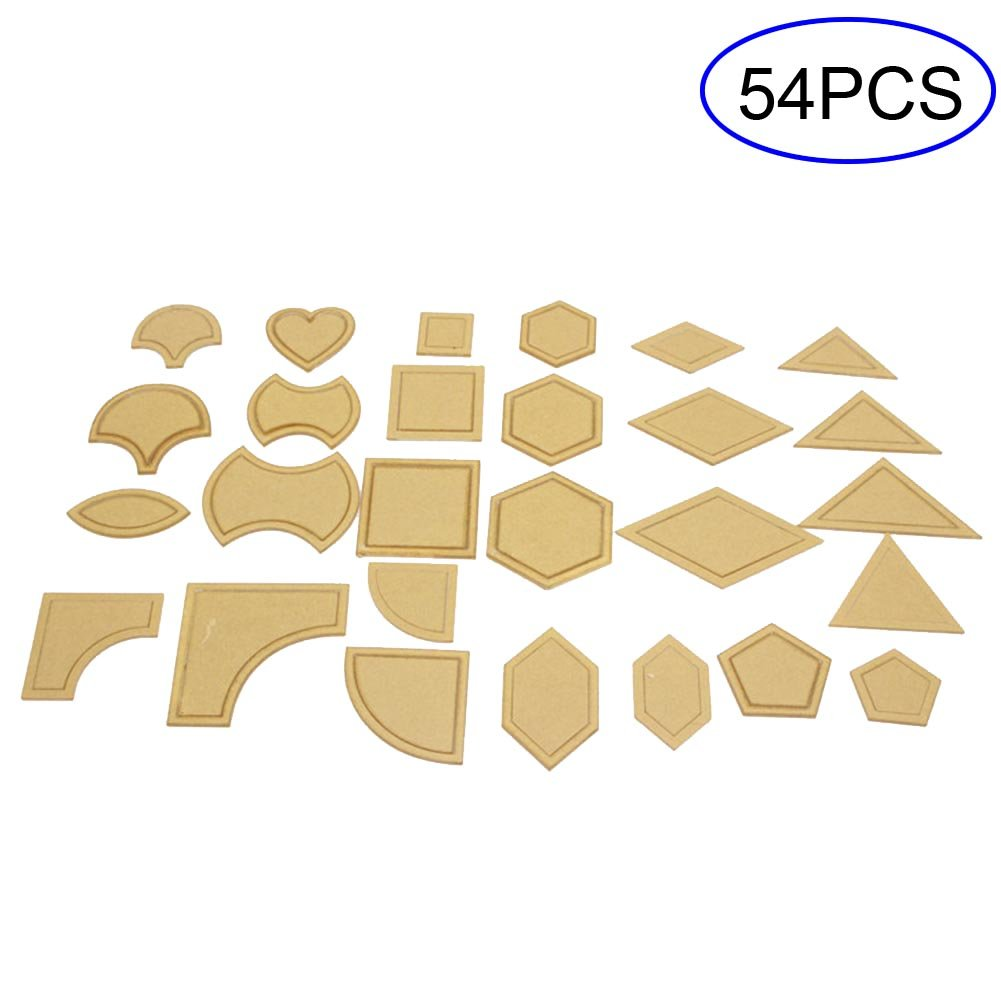Espeedy 54 Pcs Mixed Quilting Templates DIY Tools Acrylic Sew Stencil Patchwork Quilter Styling Tool Handmade Sewing Accessories