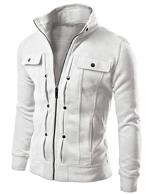 giacca invernale uomo bianca