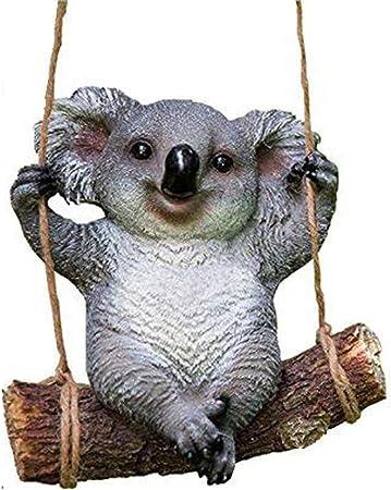 WeN Estatua del jardín de Animales: Adornos de Escultura al Aire Libre con un Lindo Oso de Koala, Las Mejores estatuas para la casa del jardín en el Patio: Amazon.es: Hogar
