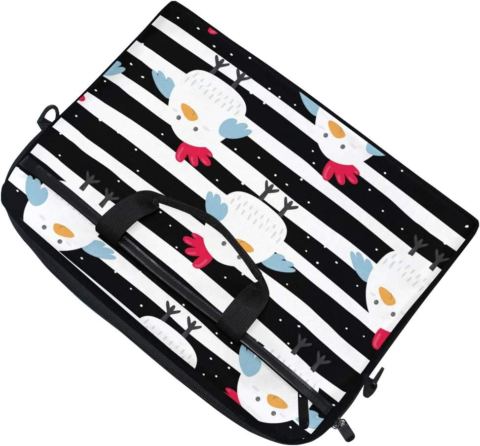 HAIIO Laptop Bag Case Geometric Stripes Rooster Animal Computer Protector Bag 14-14.5 inch Travel Briefcase with Shoulder Strap for Women Men Girl Boys