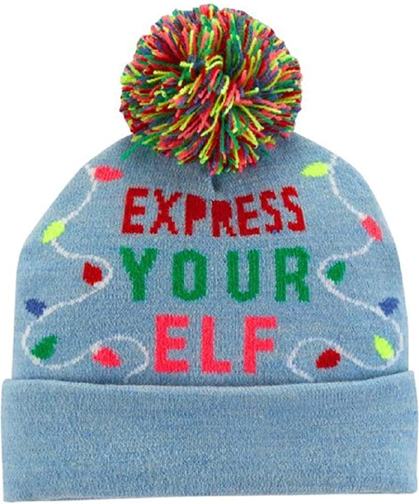 4-7 Kids Express Your Elfie OshKosh Bgosh Girls Fleece Hat