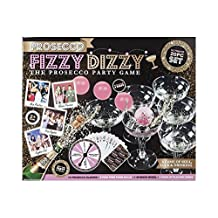 Prosecco FIZZY DIZZY KIT Party Game of Skill, Luck & Drinking Ping Pong Glass Ball 20PC Set