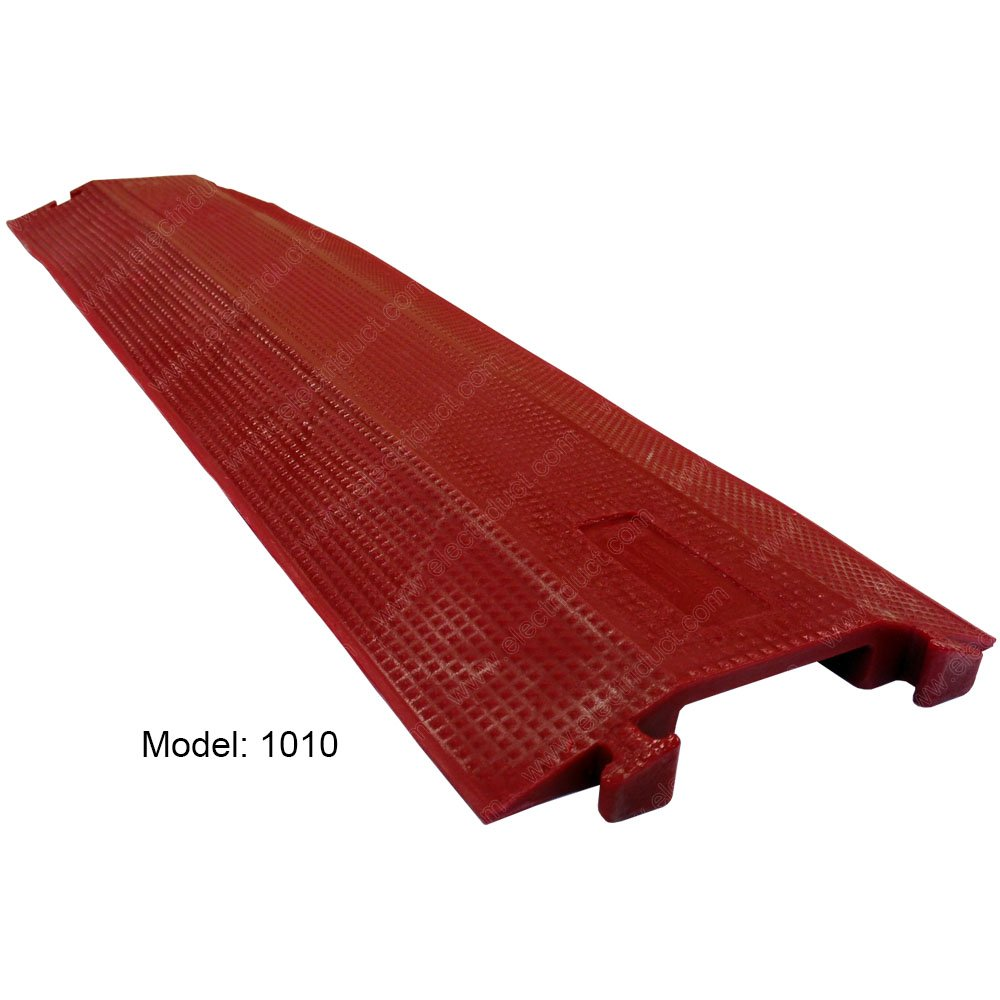 Cable Guard Drop Over Cable Protector - Model: 1010 - Color: Red by Electriduct