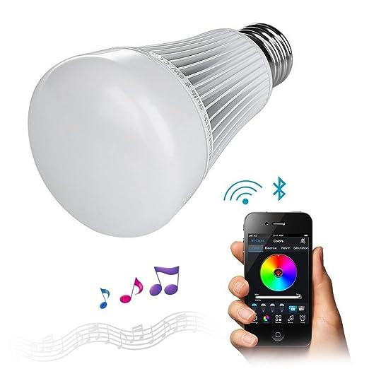 7 opinioni per LIGHTEU, 8W E27 Bluetooth 4.0 LED Lampadina / Nightlight Playbulb / colore che
