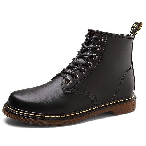 de269364de0dc0 WOJIAO Casual Heightening 3.1 inch Boots Mens High Top Elevator Shoes Black  Brown Oxfords (4