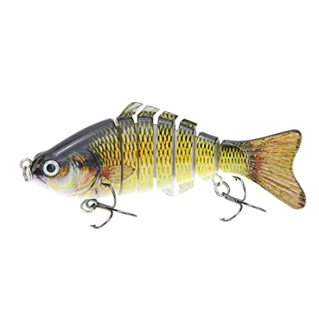 Review Lixada Fishing Bass Lure Multi Jointed Artificial Bait Segment Lifelike Trout Swimbait Hard Crankbait Treble Hooks