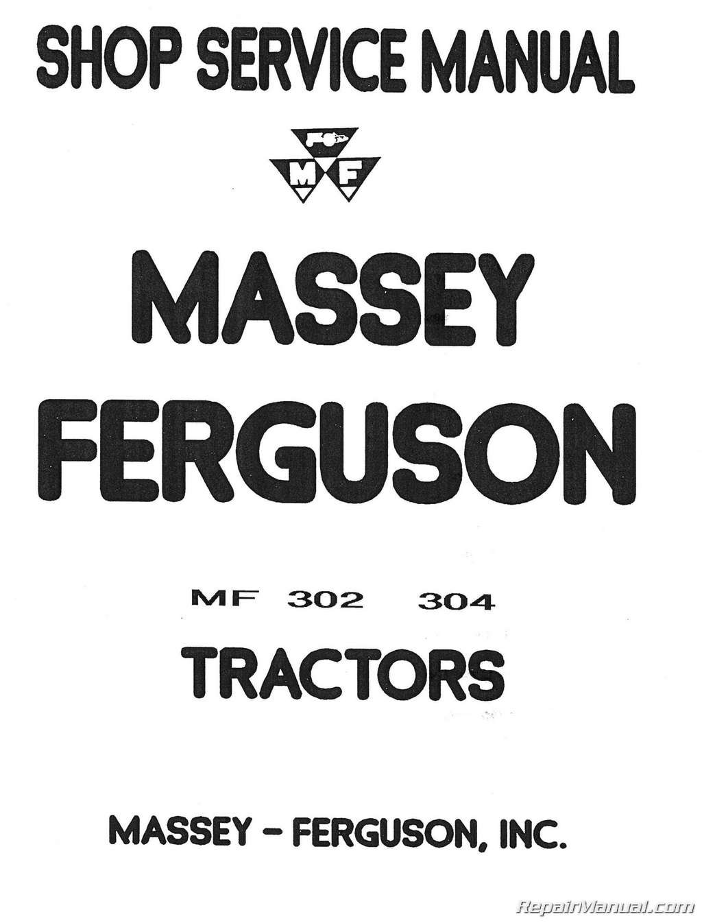 Massey Ferguson 302 Wiring Diagram Not Lossing To 30 Mh S Mf302 304 Mf Tractor 320 Backhoe Rh Amazon Com Diagrams For 1977 265