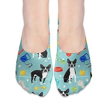Amazon.com  MaoYTUI Boston Terrier Toys Dog Cotton No Show Socks ... fe11261a7
