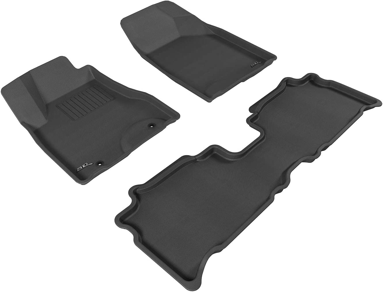 Kagu Rubber 3D MAXpider Front Row Custom Fit All-Weather Floor Mat for Select Lexus RX350//330 Models Black