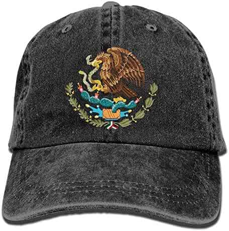 Adjustable Baseball Caps Mexico National Emblem Cowboy Style Trucker Cap ea8784567f65