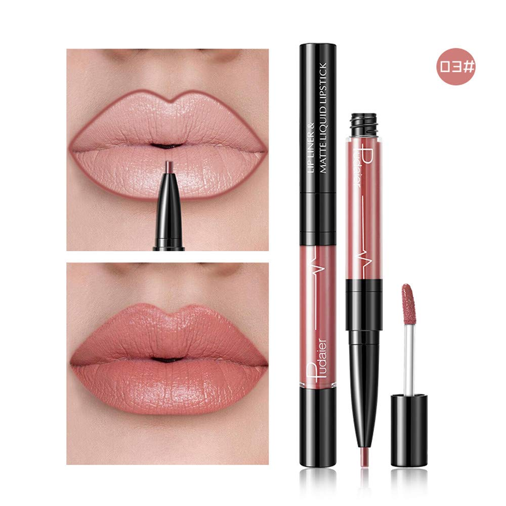 FORUU Women's Lipstick, 2019 Valentine's Day Surprise Best Gift For Girlfriend Lover Wife Party Under 5 Free delivery Double-end Lasting Lipliner Waterproof Lip Liner Stick Pencil 16 Color