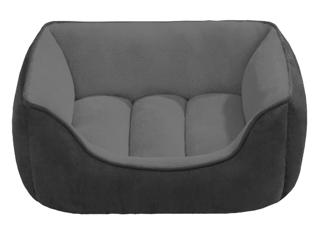 Beatrice Home Fashions SUEPTB24GRG Suede Reversible Cuddler Bed for Dogs/Cats/Pets, Gray