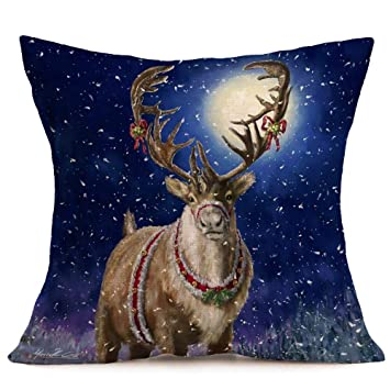 Amazon.com: ARM 1PCS 45x45cm Christmas Cushion Cover Throw ...