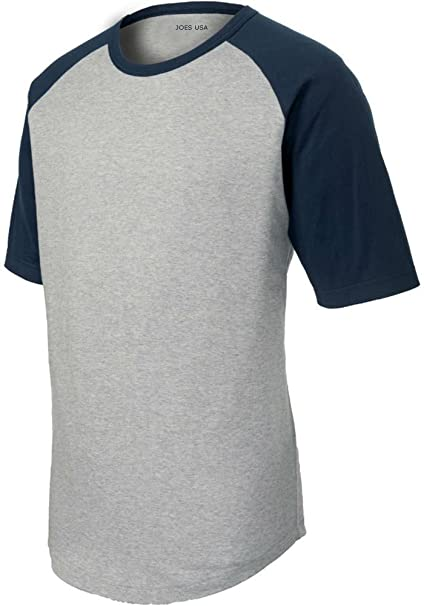 official photos c8a2e 821dd Amazon.com  Youth Short Sleeve Raglan Baseball Shirts in Youth Sizes   XS-XL  Clothing