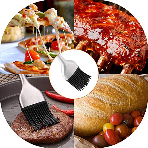 Xelparuc Basting Brush and Pastry Brush-Set of 2 Silicone Brush, Kitchen Basting Brush - 12.6 Inch & 8.4Inch -Great for BBQ Meat,Grill,Cakes and Pastries by Xelparuc (Image #4)