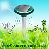Solar Ultrasonic Mole Rodent Snake Repeller XingYa®-Get Rid Of Mole Rodent Snake Mouse Rat Gopher Voles for Outdoor Garden Yard(2 Pack)