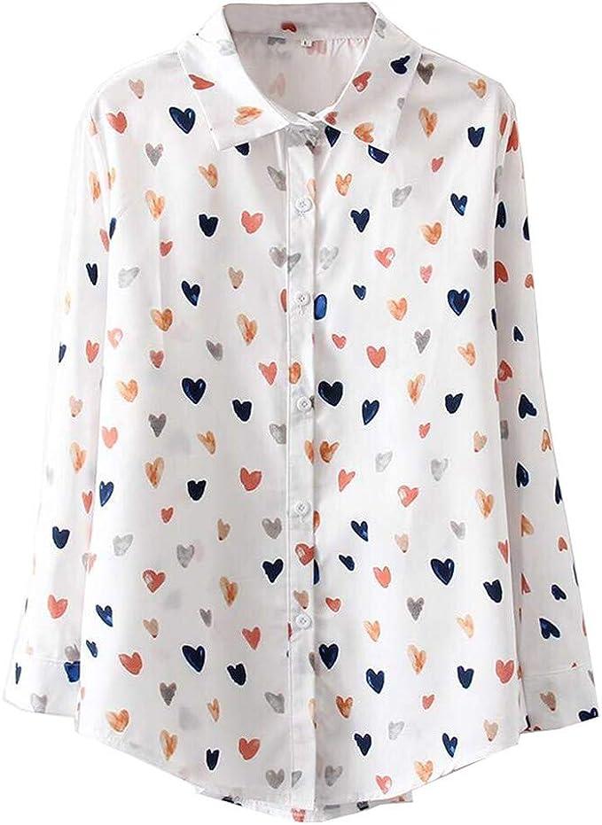Blusas para Mujer Manga Largas Verano Otoño Elegante 2019 PAOLIAN Camisetas Mujer Fiesta Casual Vestir Blusas Fiesta Ancho Adolescente Jovenes Estampados Amor: Amazon.es: Ropa y accesorios