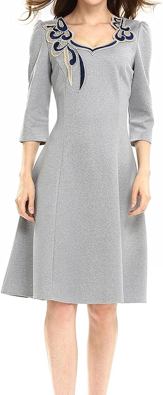 Vestiti Cerimonia Amazon.Vestiti Donna Festivo Fashion Vestito Da Sera Ginocchio Manica 3 4