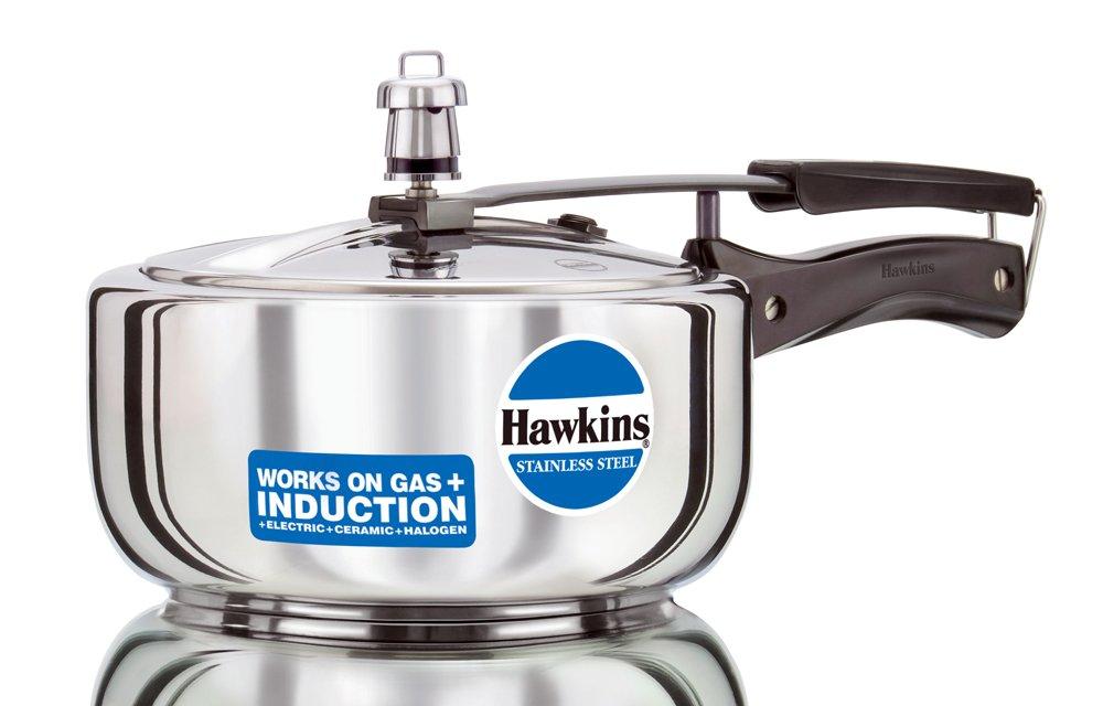 Hawkins B60 Pressure Cooker, 3 L, Silver by HAWKINS