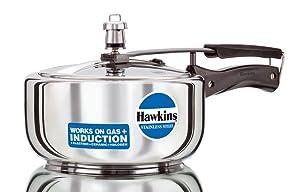 Hawkins B60 Pressure Cooker 3 L Silver