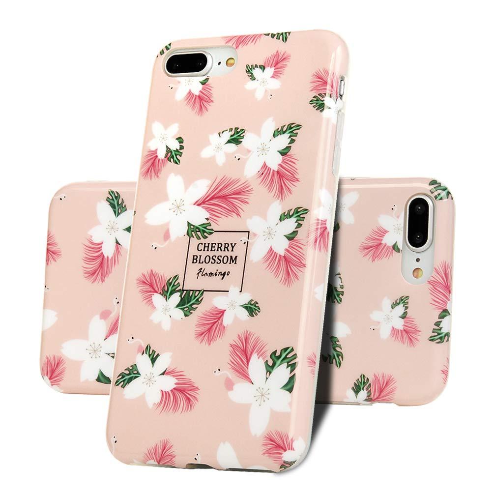 H/ülle f/ür iPhone 7 Plus//iPhone 8 Plus Soft TPU Schale Schutzh/ülle Handytasche Anti Fallen Sto/ßd/ämpfung Cover in Blumen Gemalt Handyh/ülle Case