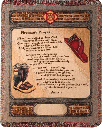Manual 50 x 60-Inch Tapestry Throw, All Fired Up (Prayer Inspirational Throw Tapestry)