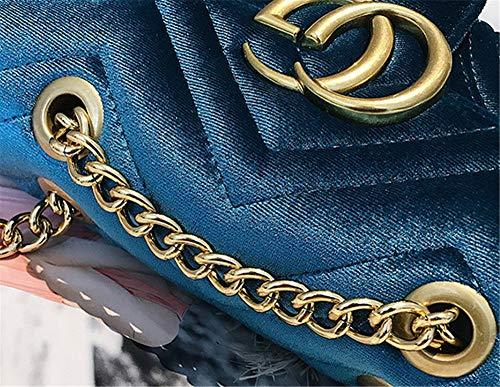 Bandolera Sandía Textura Un Terciopelo Messenger Rojo Blue Solo Bolso Bolsos Hombro Rombal De BFqvBr