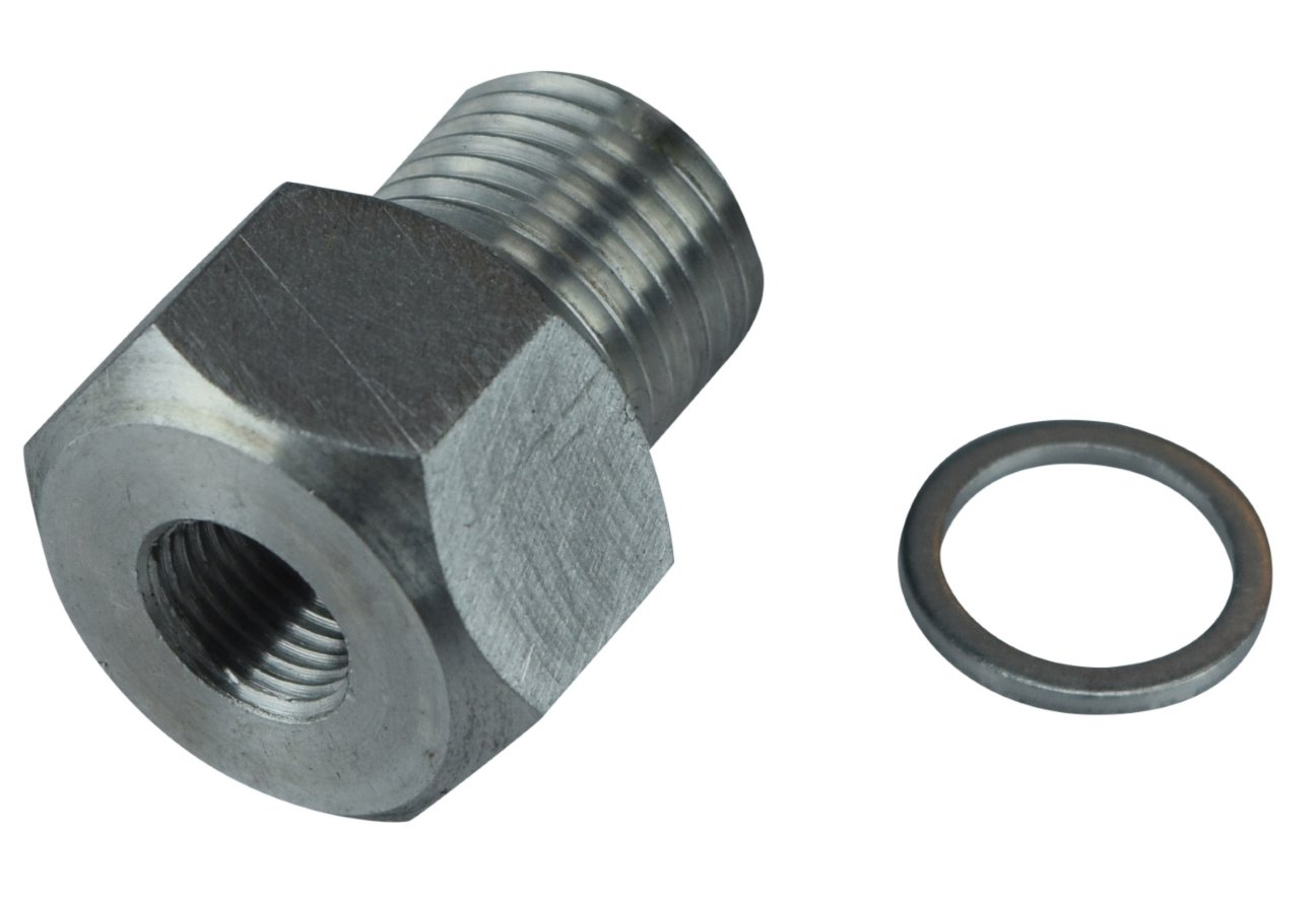 LS Engine Swap M16 1.5 Adapter to 1/8 NPT Oil Pressure Sensor LS1 LSX LS3 Gauge 551172 ICT Billet