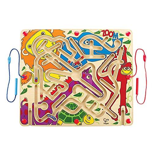 Shaped Zoo Animals Puzzle (Award Winning Hape Zoo'm Kid's Magnetic Wooden Bead Maze Puzzle)
