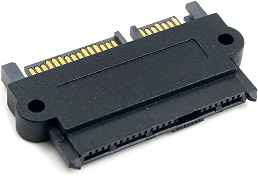 yan SATA 22 Pin Female to 7 Pin and 15 Pin SATA Power Male 12